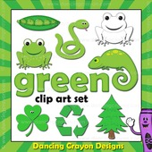 Green clipart - things that are green