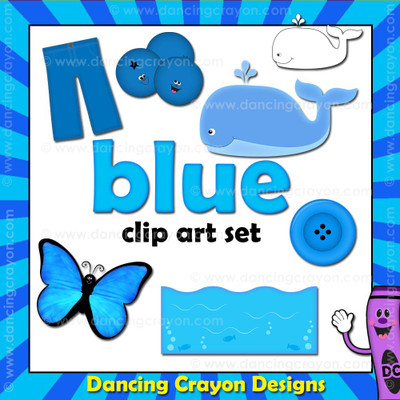 Blue clipart - things that are blue color