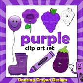 Purple clipart - things that are purple color