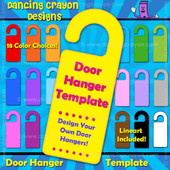 Door Hanger Template - Design your own sign.
