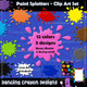 paint splatters clip art set with borders and background images