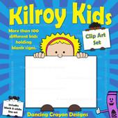Clip Art Kids Holding Signs: Kilroy Style Kids