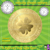 FREE Clip Art: St. Patrick's Day Gold Coin Clip Art