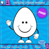FREE Clip Art: Easter Egg Character