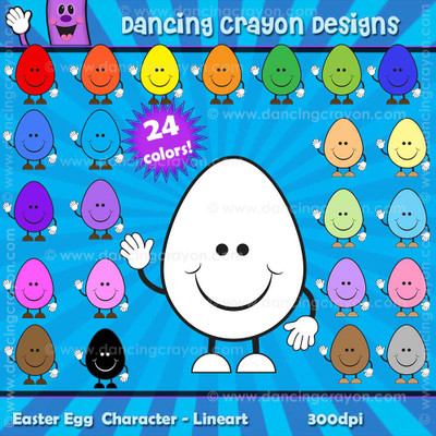 Easter Egg Characters - Clip Art