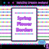 FREE Clip Art: Spring Flowers Border