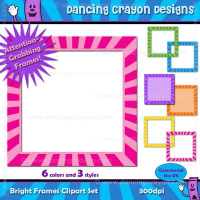 Borders: Bright Frames Clip Art