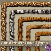 Borders: Animal Print Fur-Effect Borders and Frames Clip Art