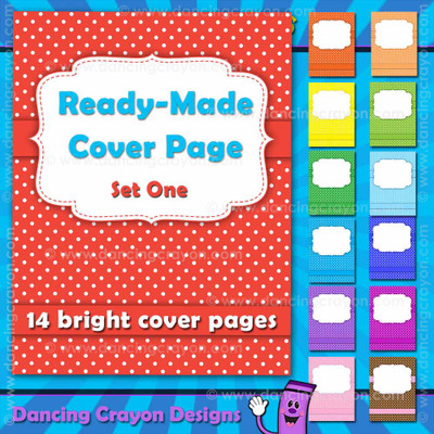 Ready-Made Cover Page: Bright Polka Dots