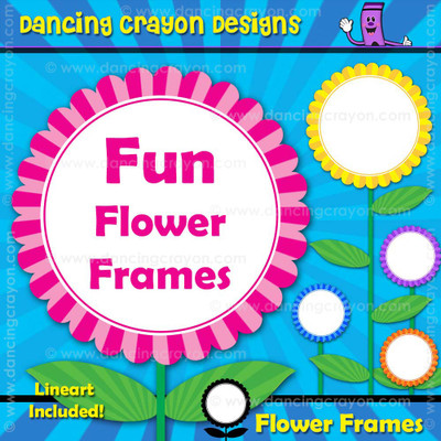 Borders / Frames: Flower Frames Clip Art