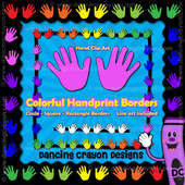 Borders: Colorful Hands Borders