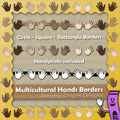 Borders: Multicultural Hand Print Borders