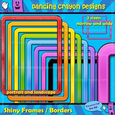 Borders: Shiny Borders / Frame Clip Art