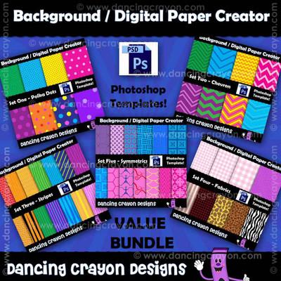 Digital paper templates - Photoshop templates