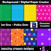 Digital paper polka-dots - Photoshop templates
