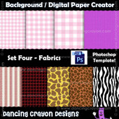 digital paper template - photoshop template - fabric designs