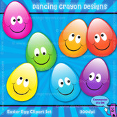 Colorful egg clipart