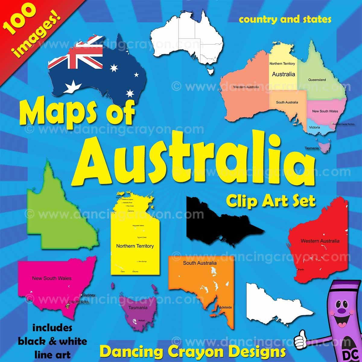Australia Map And States.Australia Maps Clip Art Maps Of Australia And Australian States