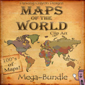Clip art maps of the world