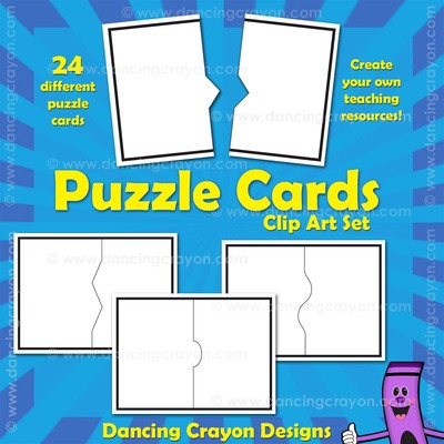 Blank Puzzle Cards - Task Card Templates