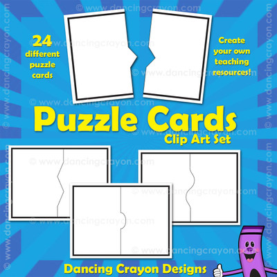 blank task card template - blank puzzle cards templates