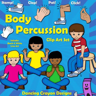 Body Percussion Clip Art: Music Education