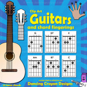 Guitar Chord Clip Art and Guitar Clip Art