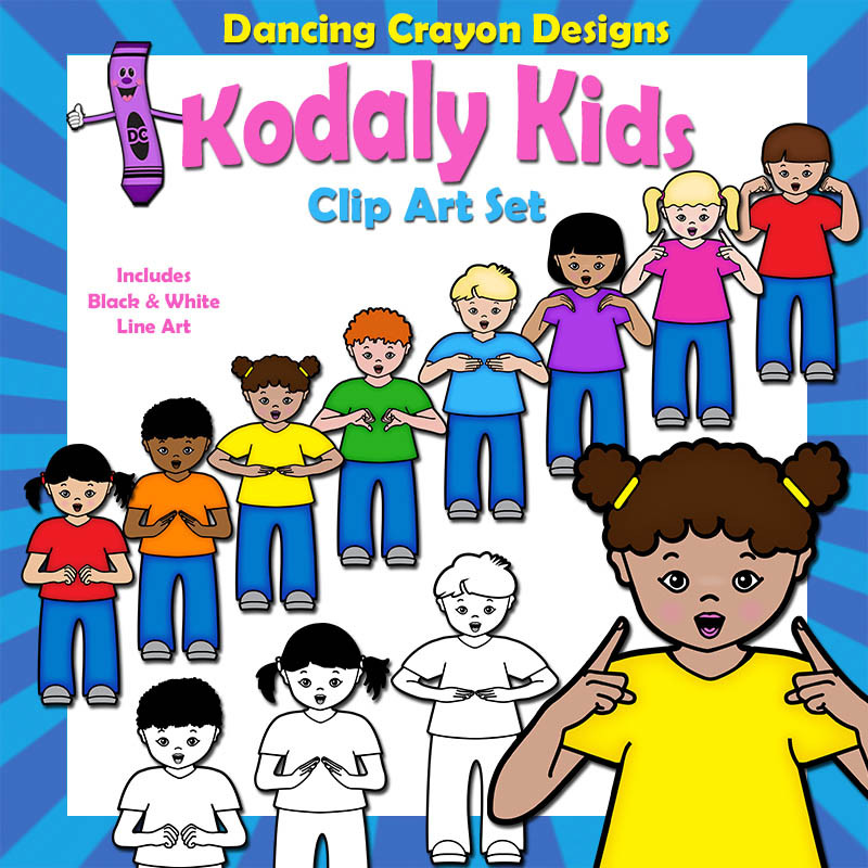 kodaly kids hand sign clip art