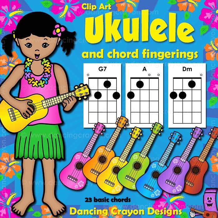 Ukulele Chord Clip Art And Ukulele Clip Art