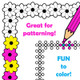 Color in a border.  Black and white page borders for coloring in.  Great for creating worksheets and activity pages.