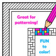 Pattern borders for coloring fun. Black and white page borders for coloring in.  Great for creating worksheets and activity pages.