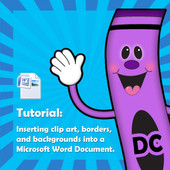Tutorial: How to insert clipart into a word document.