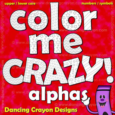 Color-in alphabet letters.