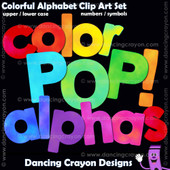 Bright color clipart alphabet