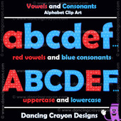consonants and vowels clipart alphabet