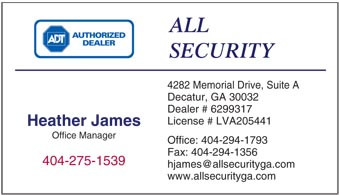 All Security logo printed on 12 point Kromekote glossy business card stock.