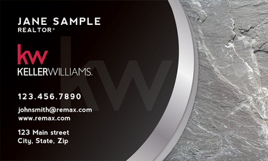 The Nicole Collection. Our top designer offers another stunning design for your business card, printed on 14 point or upgrade option to 16 point card stock with UV gloss coating on the front. Optional full color back printing.
