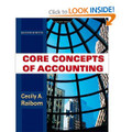 Core Concepts of Accounting Raiborn 2nd Edition solutions manual