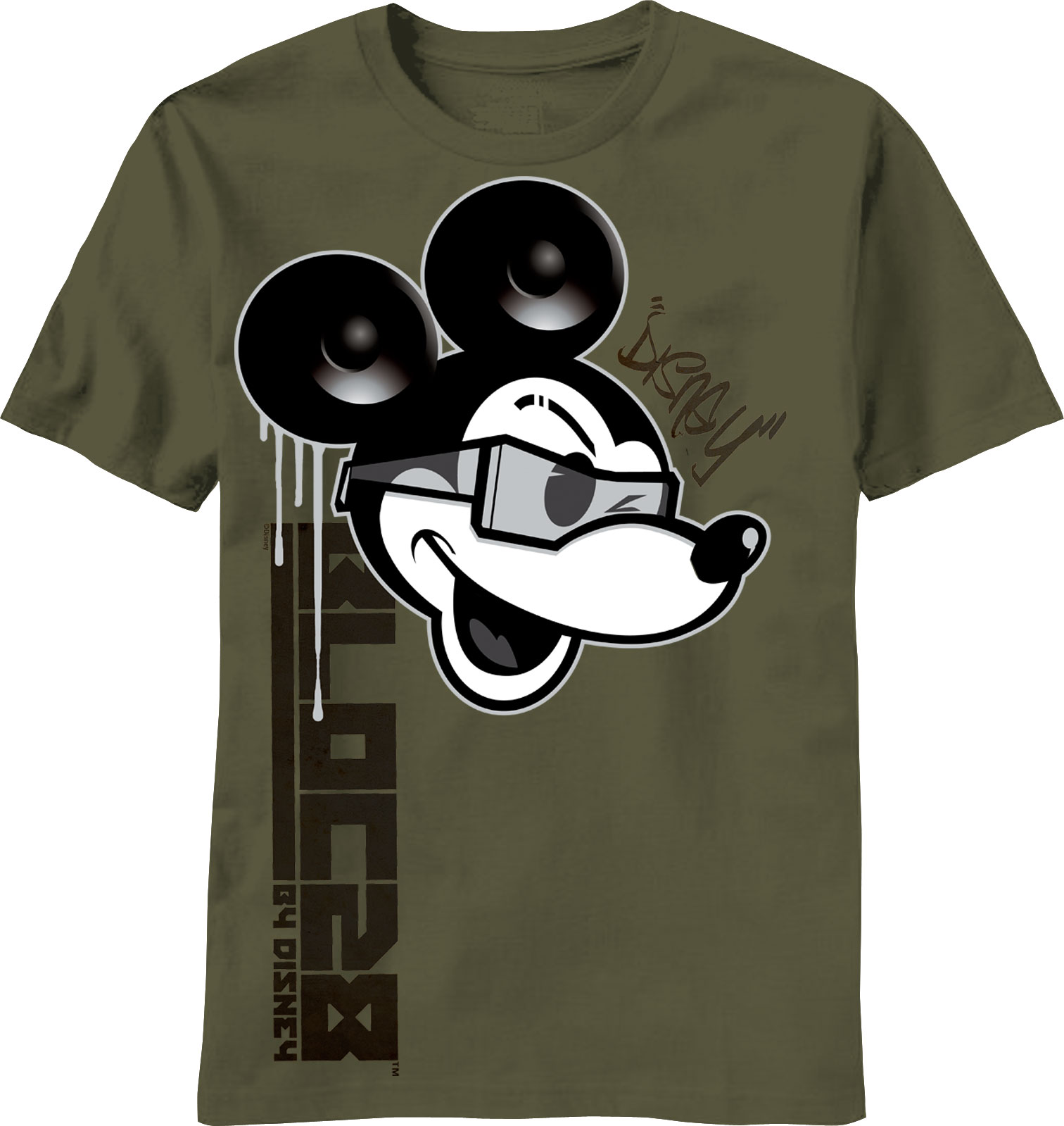Official Disney Mickey Mouse Old Paper Adult T Shirt Walt Disney