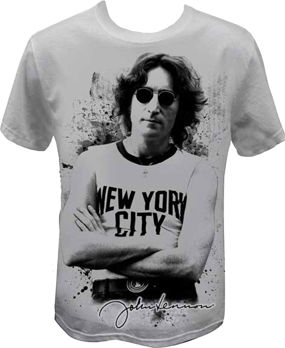 Official John Lennon Famous New York City Image T Shirt Rock Band The Beatles T Ebay