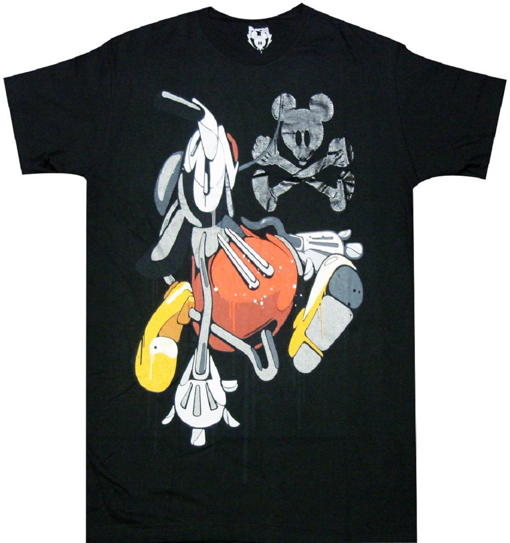 Official Disney Mickey Mouse Acid Drip Adult T Shirt Walt Disney