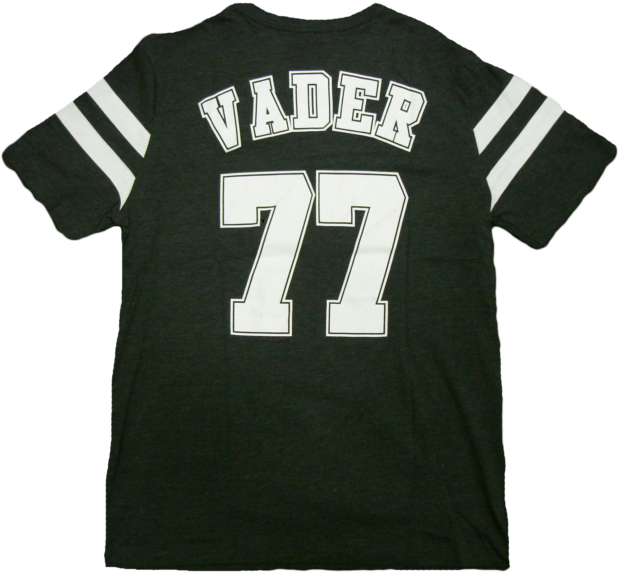 brand new 8f6a5 626b7 Details about Star Wars Vader 77 Varsity Double Sided Adult T-Shirt - Space  Galaxy Jedi Yoda