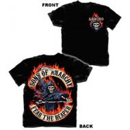 Sons Of Anarchy Fear The Reaper Flamed Logo Adult T-shirt