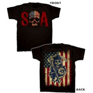 Sons of Anarchy Skull & American Flag Reaper Adult T-shirt