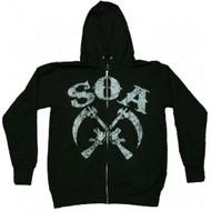 Sons of Anarchy Crossed Sickles Full Zip Hoodie Sweatshirt