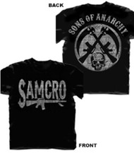 Sons of Anarchy SAMCRO Rifle Logo Adult T-Shirt