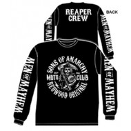 Sons of Anarchy Moto Club Reaper Crew Logo Adult Long Sleeve T-shirt