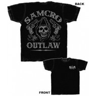 Sons of Anarchy Samcro Outlaw Reaper Guns Adult T-Shirt