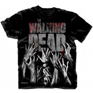 The Walking Dead Hands Reaching Adult T-Shirt