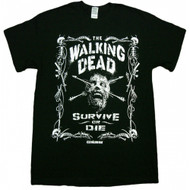 The Walking Dead Border Of Bones Survive or Die Adult T-Shirt